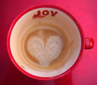 image of heart in coffee cup