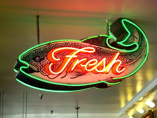 Pike Place Market Fresh Fish Sign