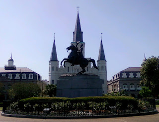 Jackson Square and St. Louis Cathedral in New Orleans