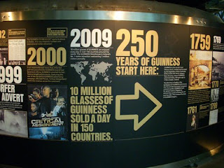 Display commemorating Guinness' 250th anniversary