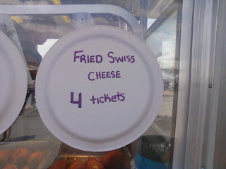 Fried Swiss Cheese sign from Festival Vendor