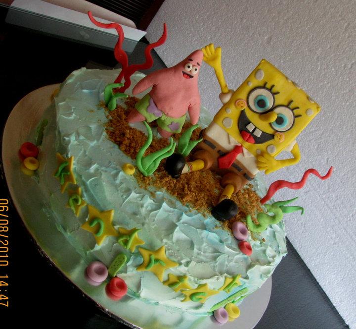 Lovely Cake Decoration Spongebob Patrick cake