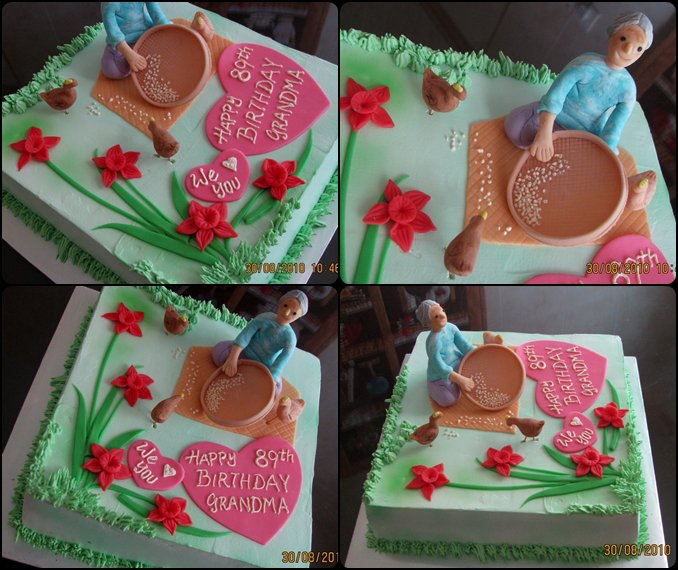 Lovely Cake Decoration Cake For Grandma