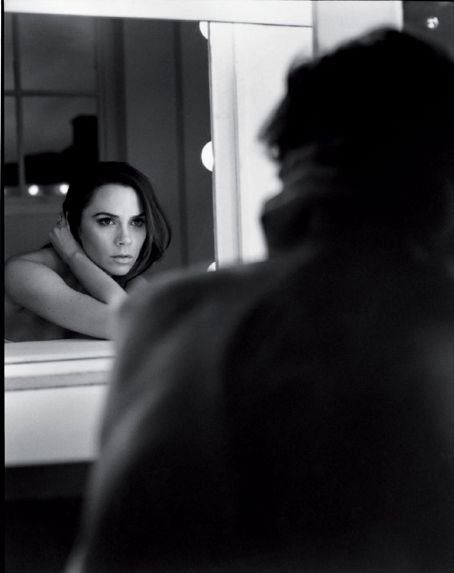 Two things I like about this edition of UK Vogue. One, Victoria Beckham