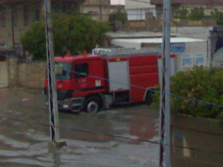 fire brigade at mosul floods