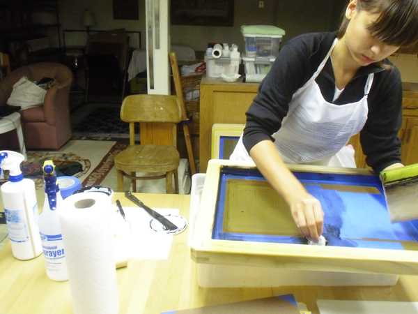 PAWLING | print studio - screen printing process