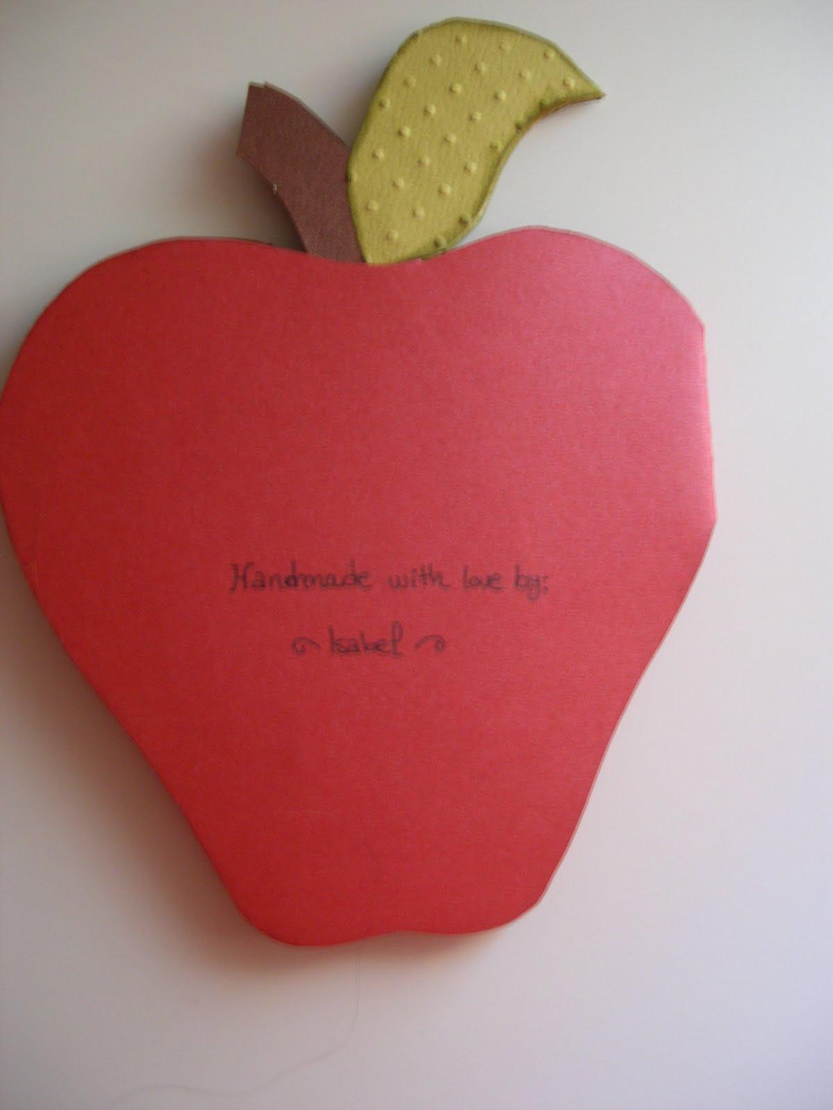 Papel & Manualidades: Tarjeta manzana