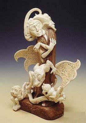 யானைத் தந்தத்தினால் செய்யப்பட்ட சிற்பங்கள். Ivory-Art+%288%29