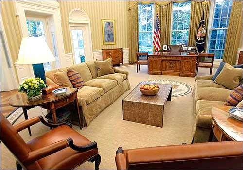 NELANGO Inside the US President Barack Obamas Oval Office
