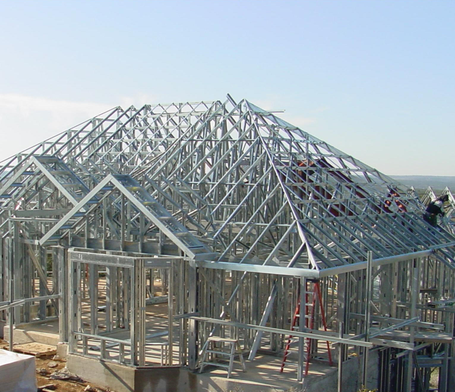 Steel Frame House Construction : Metal buildings