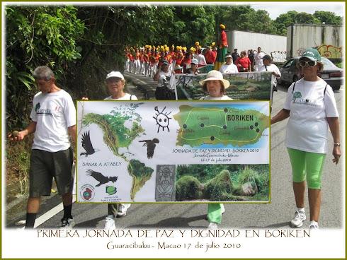 Jornada de  Paz y Dignidad - Guaracibaku - Macao...Un éxito   total!