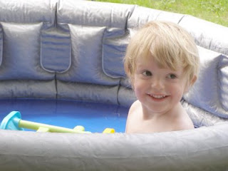 Alexander in the paddling pool