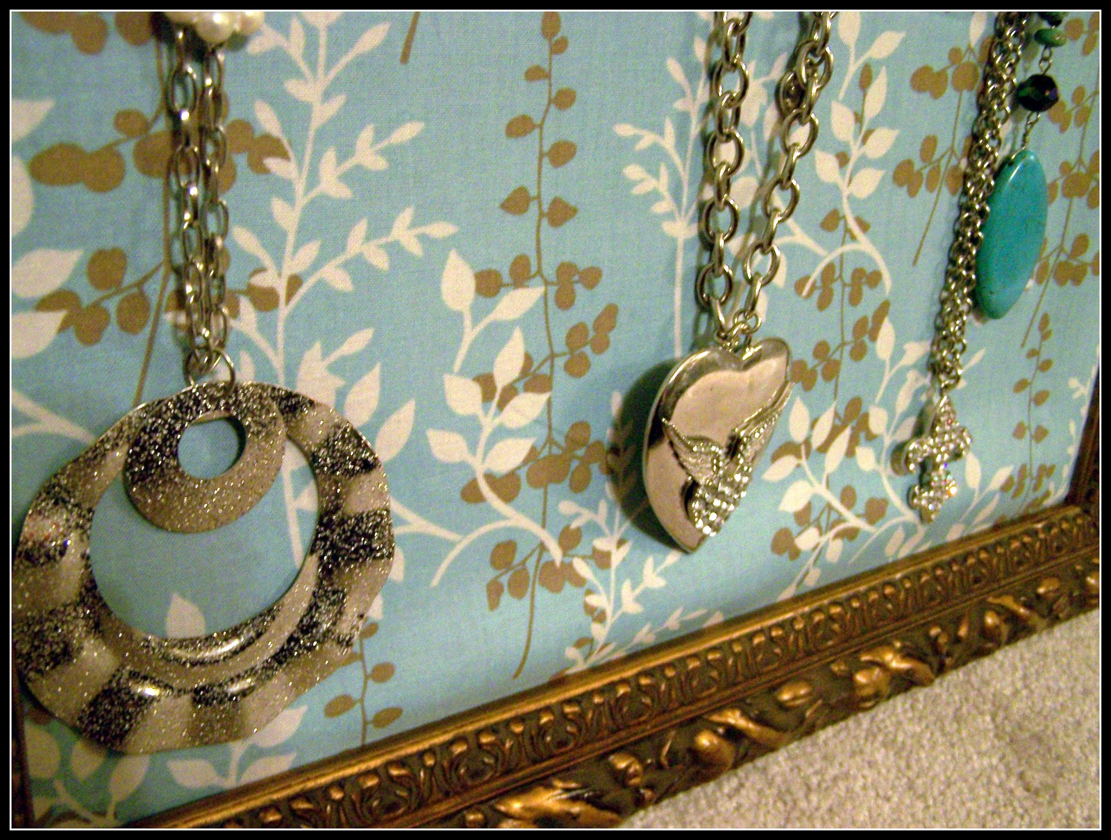 How sweet it is make your own picture frame jewelry for Make your own jewelry rack