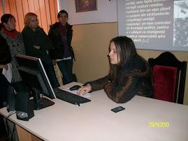 Aspecte din tipul concursului de prezentări power point: eleva Silvia Darabană ( a XII-a B )