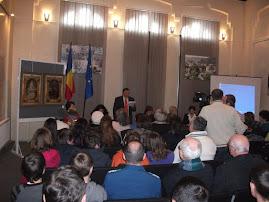 Moment din comunicarea d-lui Radu Gheorghe, Muzeul de Istorie şi Arheologie, 24.I.2011