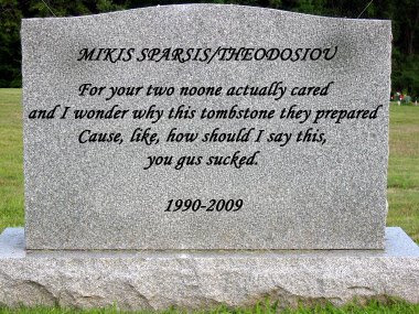 blank tombstone manner