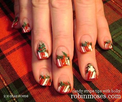 Robin moses nail art christmas nails cute christmas nails cute christmas tree nails on youtube prinsesfo Choice Image