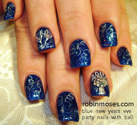 Nail Art Design New Year 2012 New Year Nail Art New Years Nail