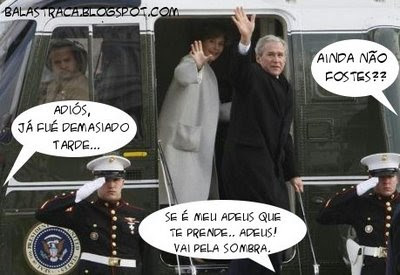 marketing, propaganda, george bush, avião, despedida