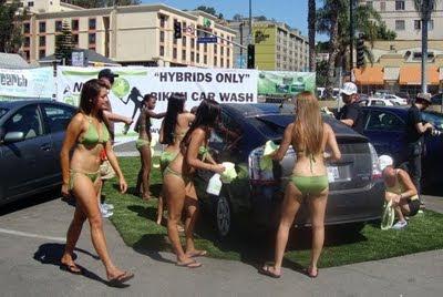 gostosas, Angry Green Girl, carro, ecologia, poluição