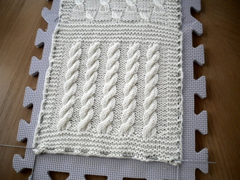 Knitting at Large: Its done: Cable Sampler Scarf