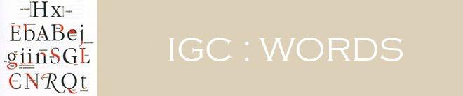 IGC Words