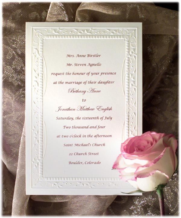 wedding invitation wording no children