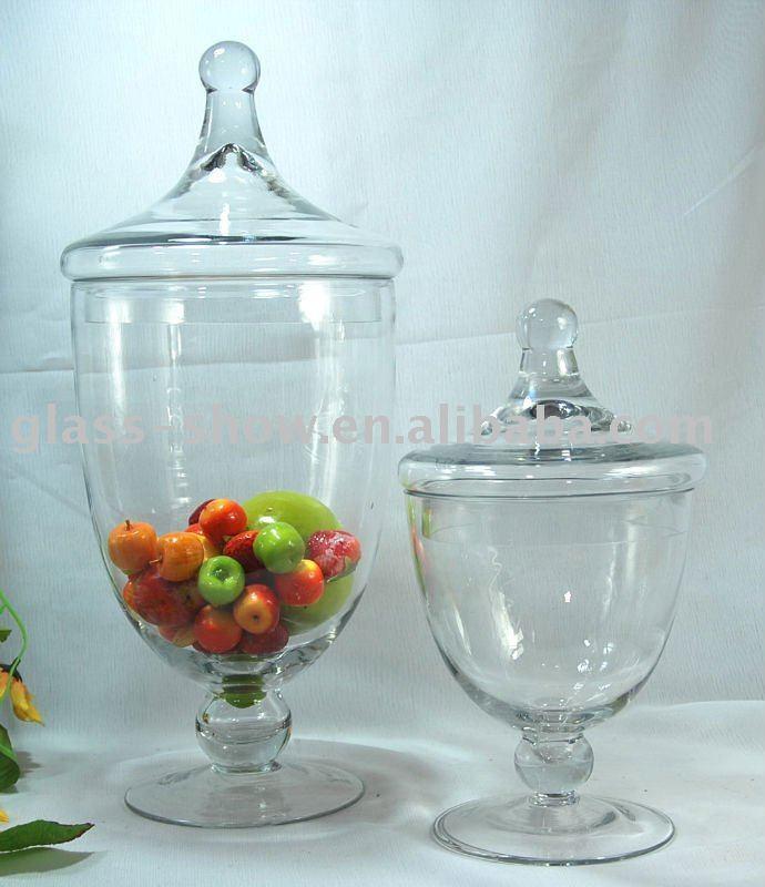 Wedding Glass Candy Jars
