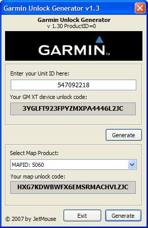 garmin unlock code generator: