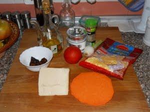 Ingredientes para la calabizza.