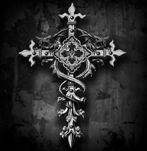 Gothic cross tattoo search results from Google