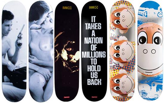 Larry Clark Supreme Skateboard Decks