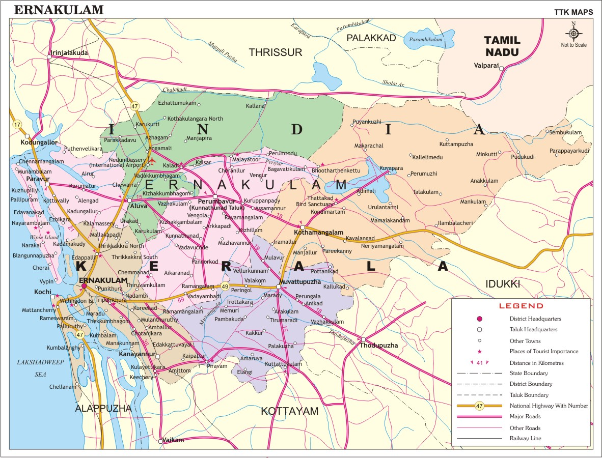 tourist places ernakulam town  ernakulam map  ernakulam travel - how to reach ernakulam