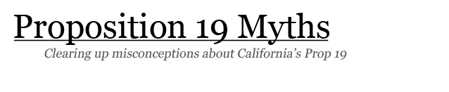 Proposition 19 Myths
