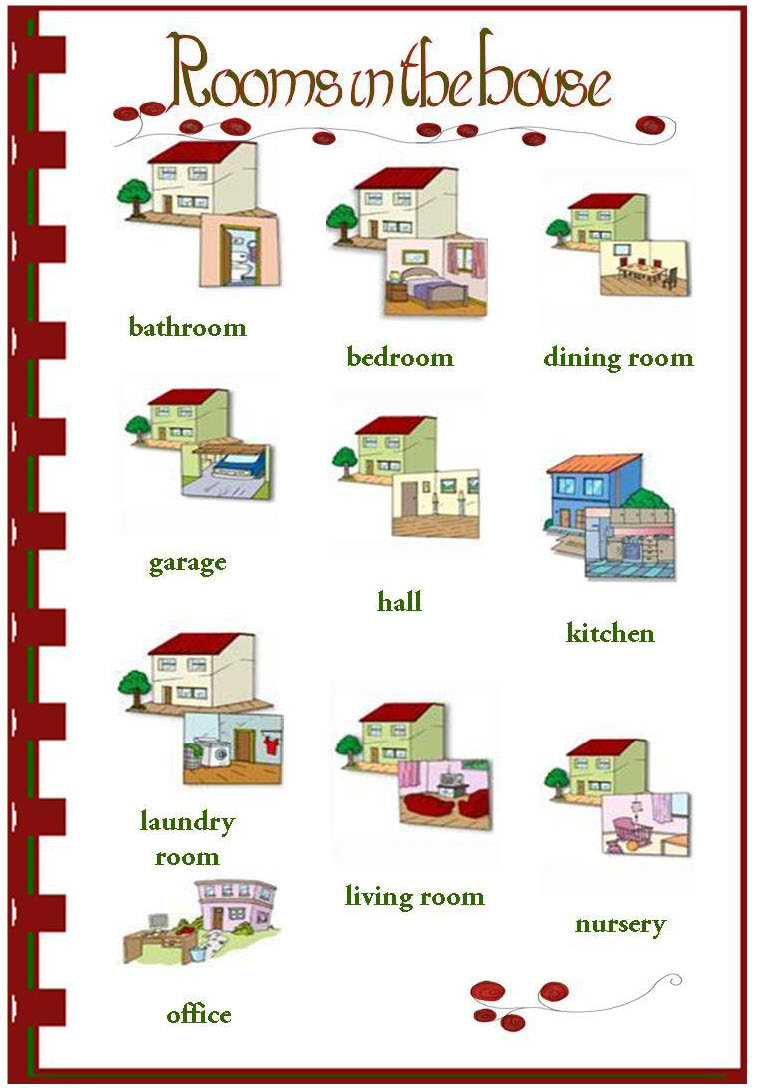 Bilingual al yussana vocabulary the house for Living room y sus partes