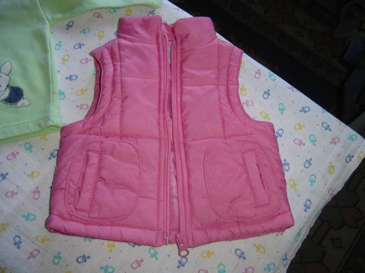 colete rosa, 3eur, 6 meses