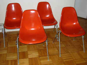 Set Of Eames Herman Miller Side Chairs