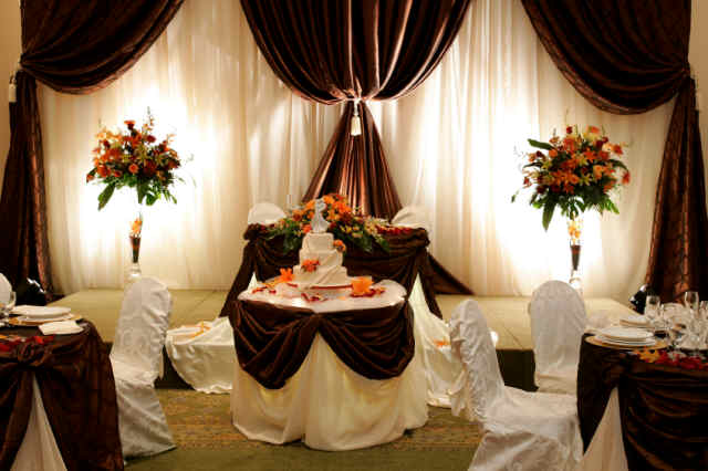 Brown Wedding Reception Decorations