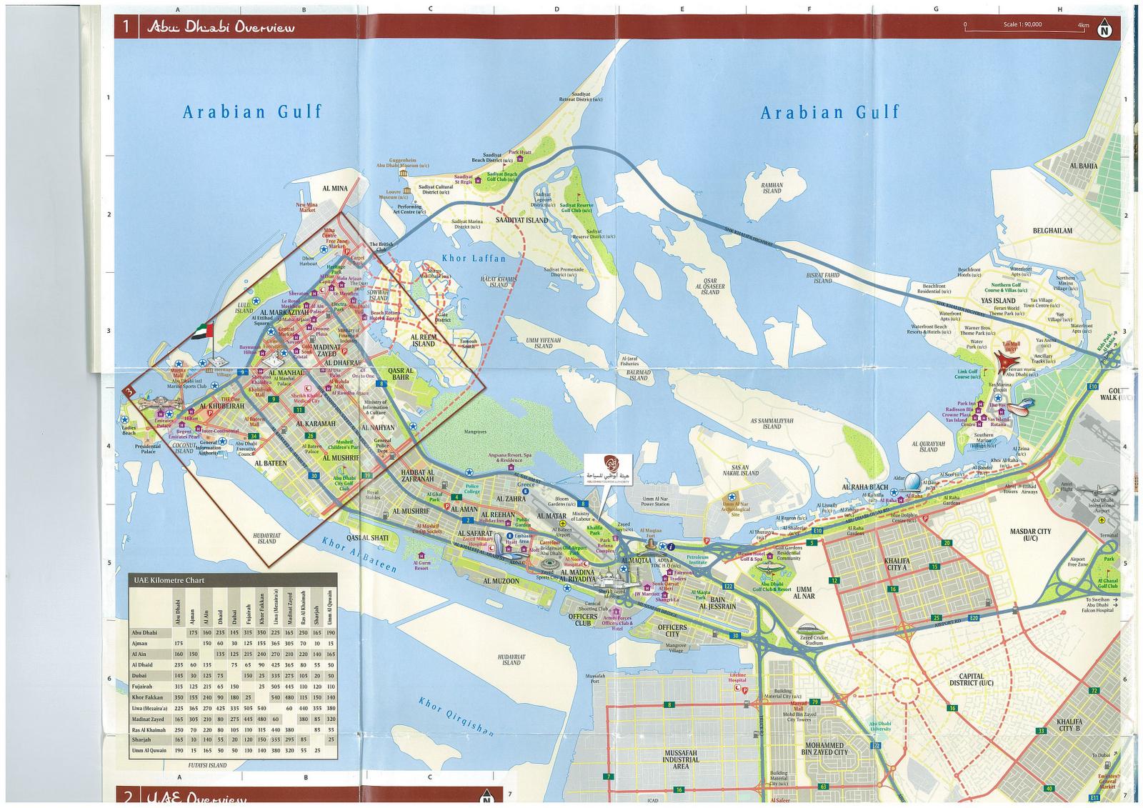 Fluffy Bom Bom Concise travel guide to Abu Dhabi – Abu Dhabi Map