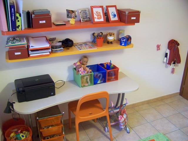Mamma giochiamo una stanza per giocare la camera dei bimbi for Mensole sopra scrivania