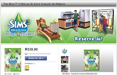 The Sims 3 Vida ao ar Livre Reserve