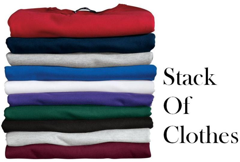 a stack of clothes