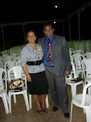 Pr. Francisco Pompilio e sua esposa Alciely.