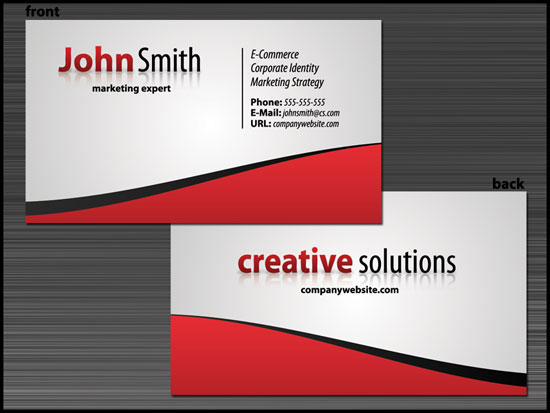 Tgg 4m1 Graphic Design Create A Slick Business Card Design With