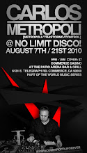 Carlos Metropoli en No Limit Disco! Commerce Casino