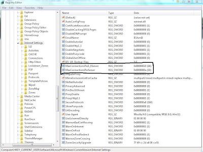 Windows 7de İnternet Explorer ile 2 den fazla download yapabilme