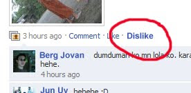 Facebook dislike button