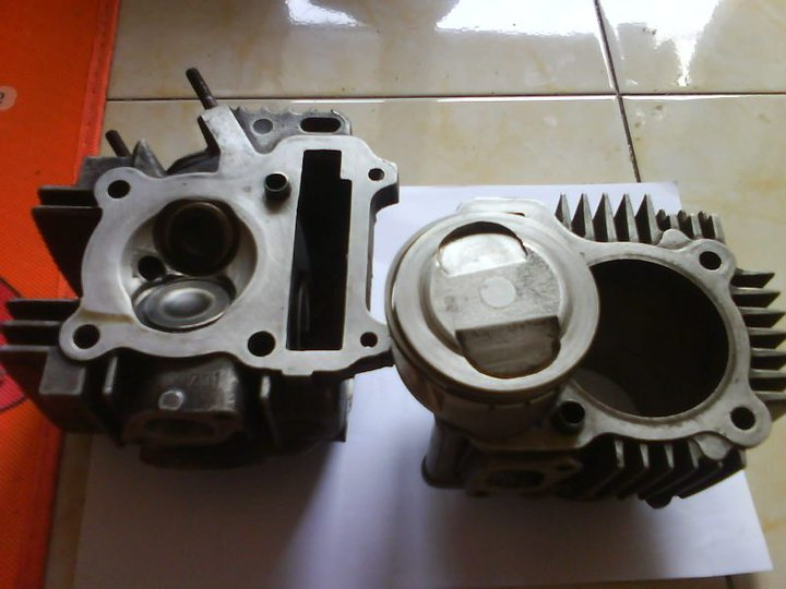 Dijual Boring + head Vega R spek Bore Up