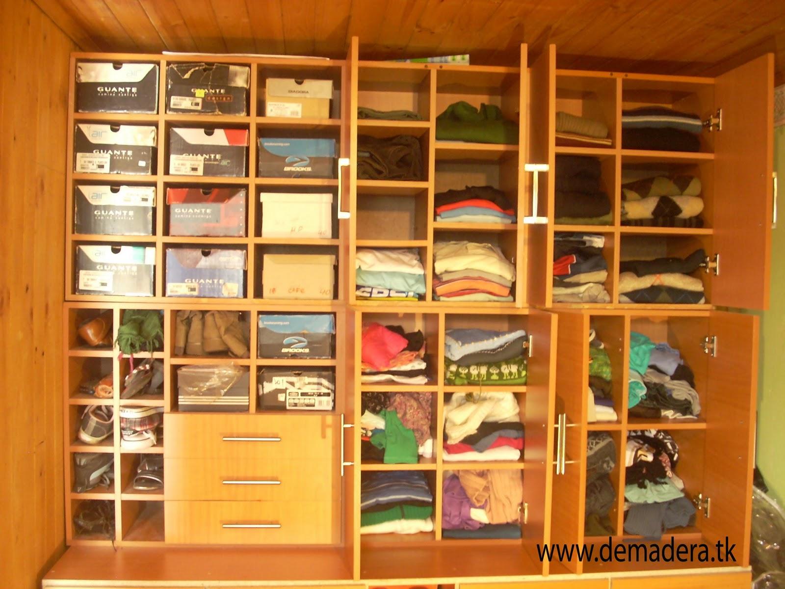 Demadera muebles r sticos closets for Medidas para closets de madera