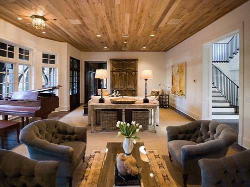 Ceiling Treatments For Living Room